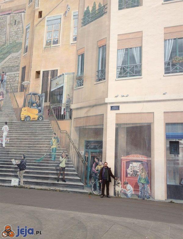 Iluzja na ścianie