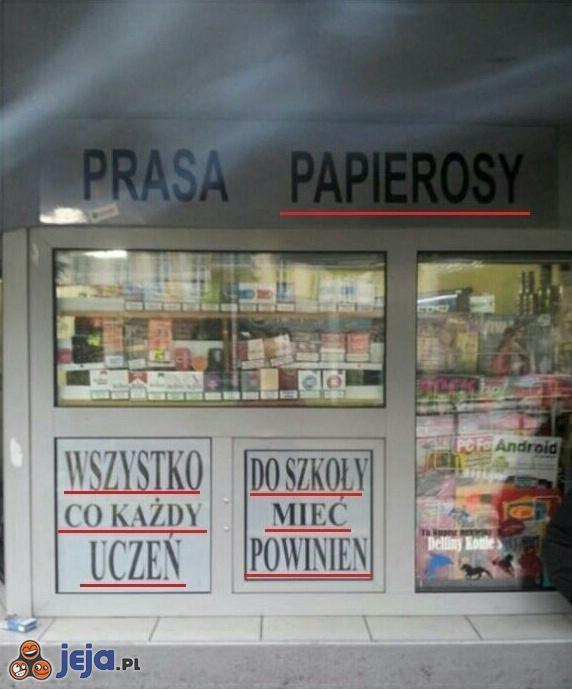 Kiosk, który spełnia wszystkie potrzeby ucznia
