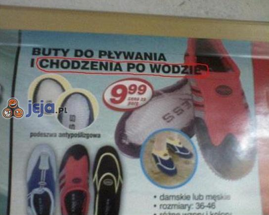 Buty Jezusa teraz dostępne w Biedronce...