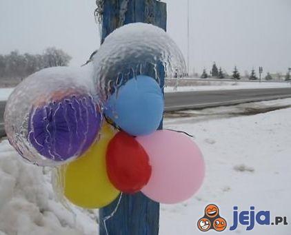 Balony na mrozie