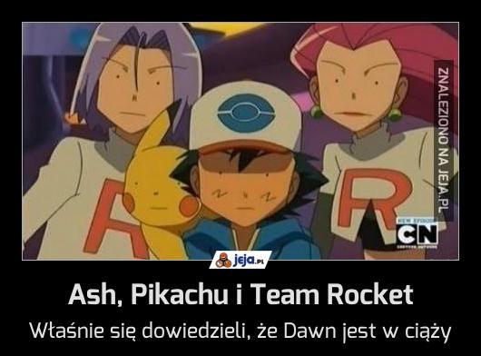 Ash, Pikachu i Team Rocket