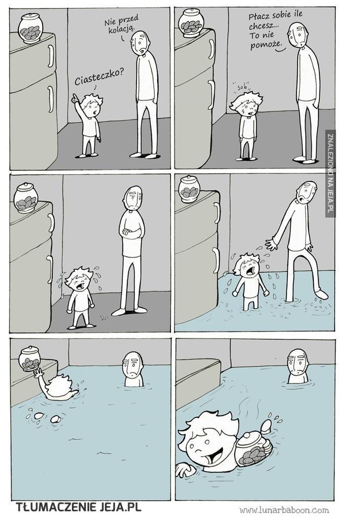 Płacz ci nie pomoże!