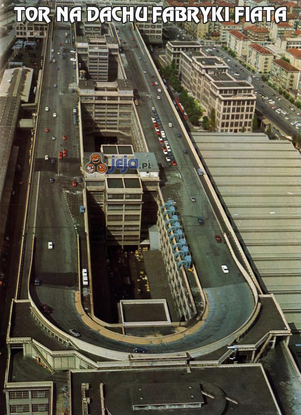 Tor na dachu fabryki Fiata