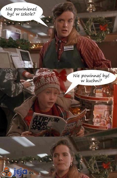 Kevin sam w sklepie