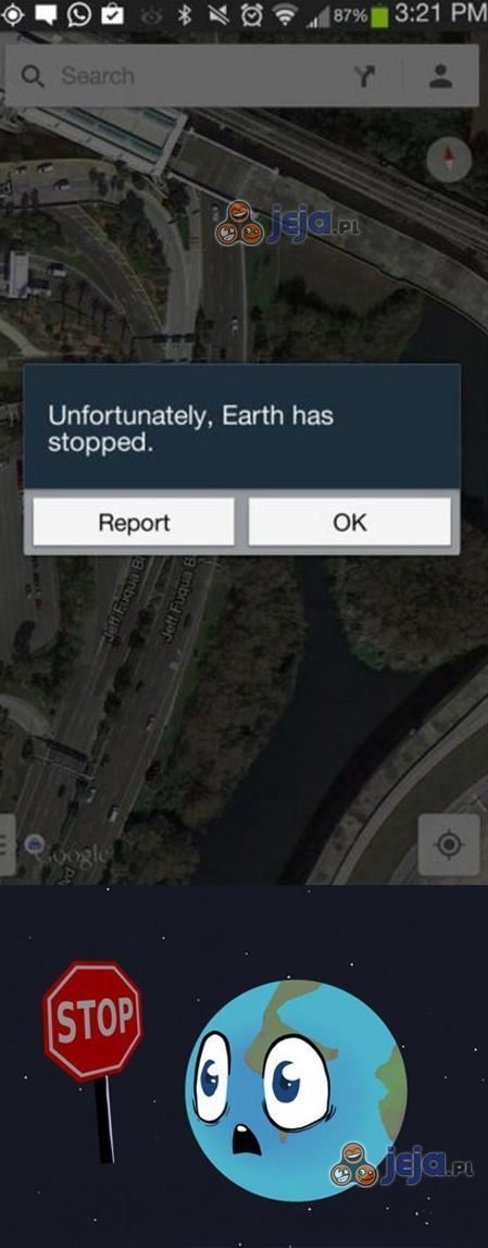 Ziemia się zatrzymała