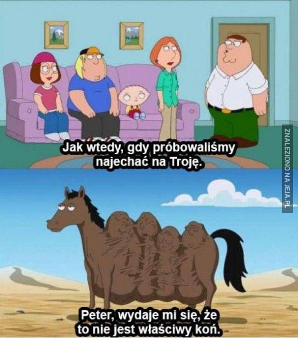 To chyba nie ten koń...