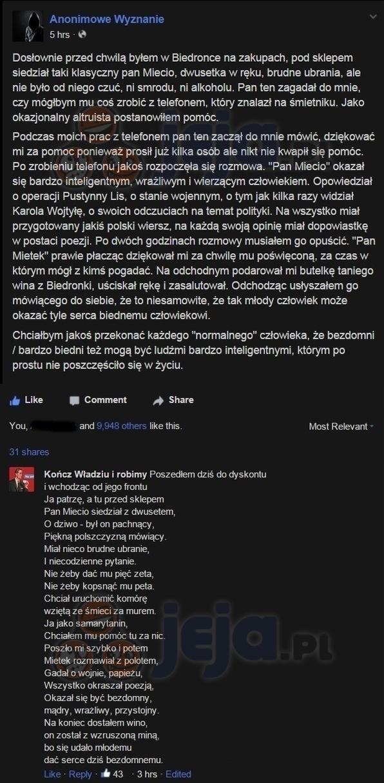 Poezja spod Biedronki