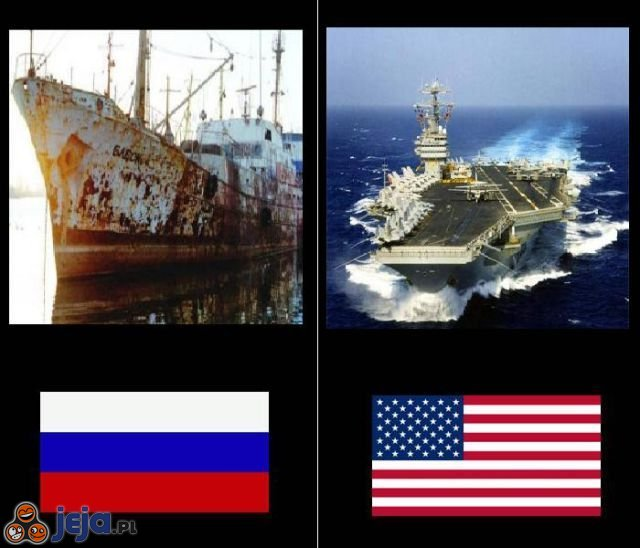 Rosja vs USA - Marynarka