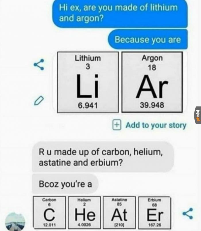 Angielsko-chemiczne śmieszki