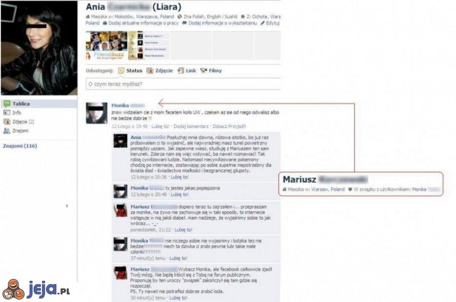 Kłótnia na Facebooku