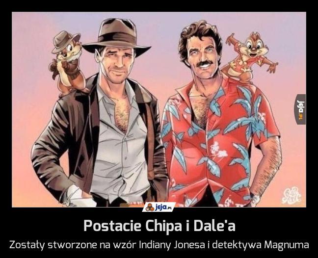 Postacie Chipa i Dale'a