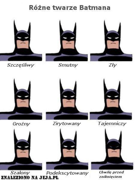 Wyrazy twarzy Batmana