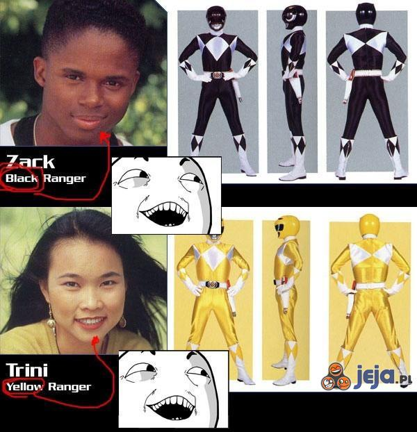 Kolory Power Rangers