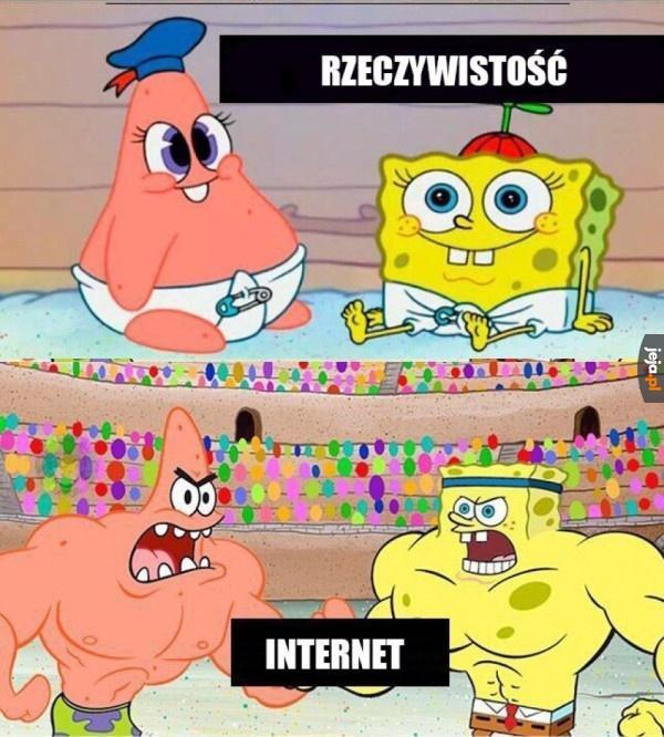 Rzeczywistość vs Internet