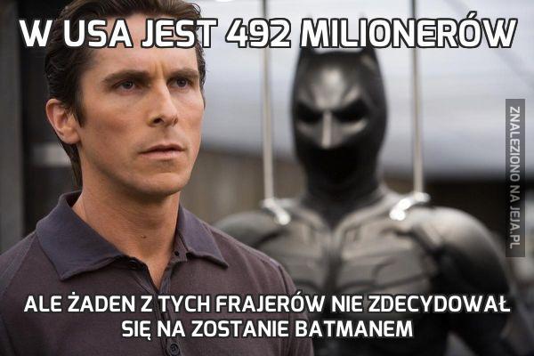 W USA jest 492 milionerów