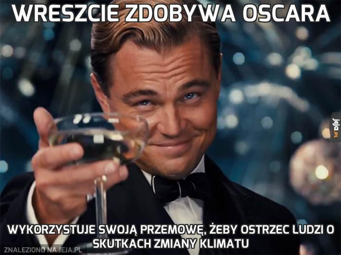 Wreszcie zdobywa Oscara