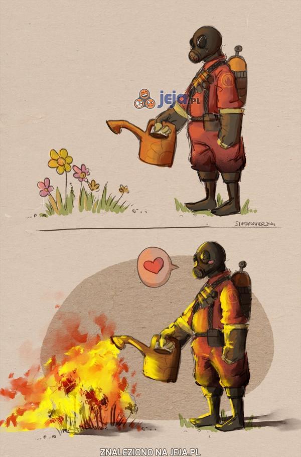 Podpalimy kwiatki...