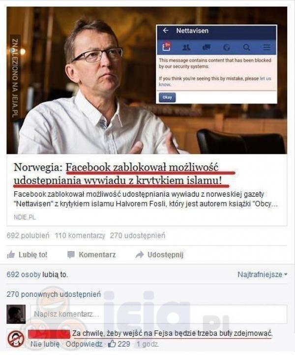 Po czyjej stronie jest Facebook?