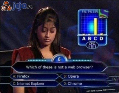 Która z nich nie jest przeglądarką internetową?