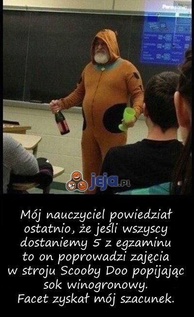 Profesor zawsze dotrzymuje słowa