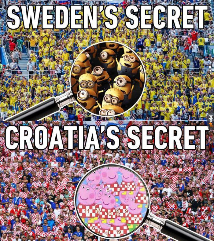 Tajemnica szwedzkich i chorwackich kibiców