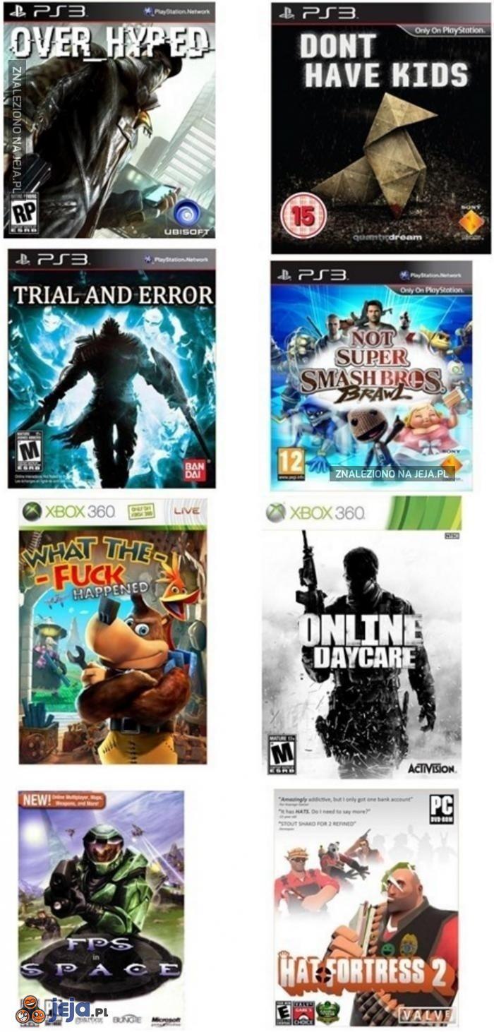 Gdyby okładki gier mówi prawdę