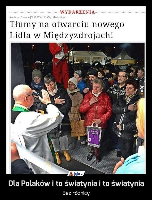Dla Polaków i to świątynia i to świątynia