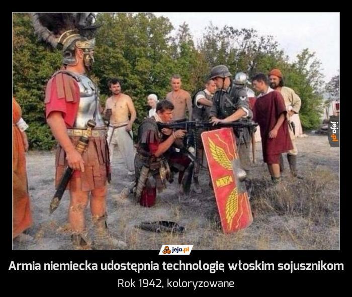 Armia niemiecka udostępnia technologię włoskim sojusznikom