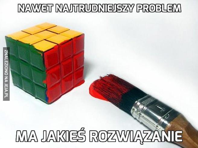 Nawet najtrudniejszy problem
