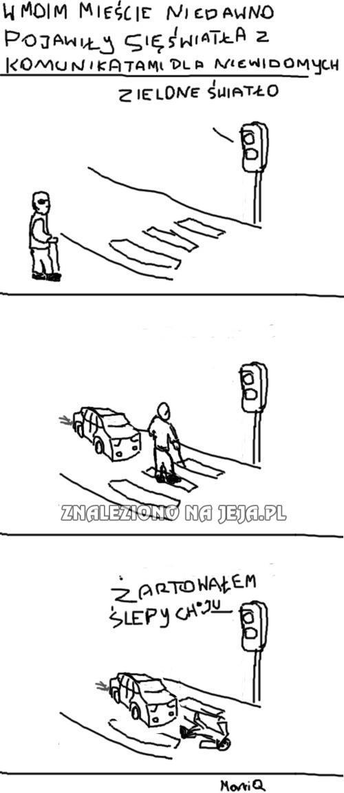 Sygnalizacja i niewidomi