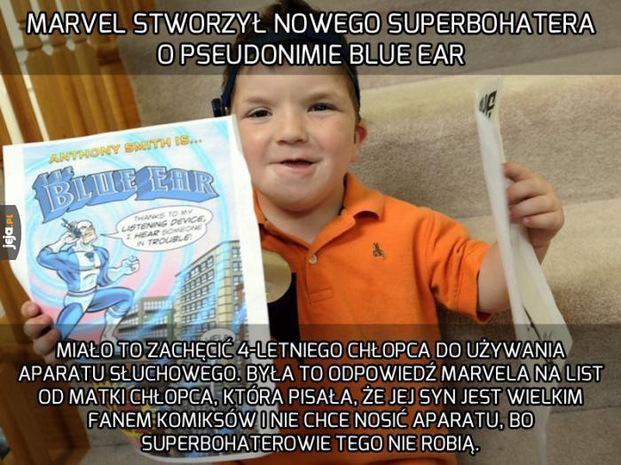 Superbohater z aparatem słuchowym
