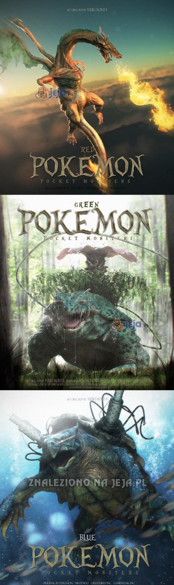 Realistyczne grafiki do gier Pokemon