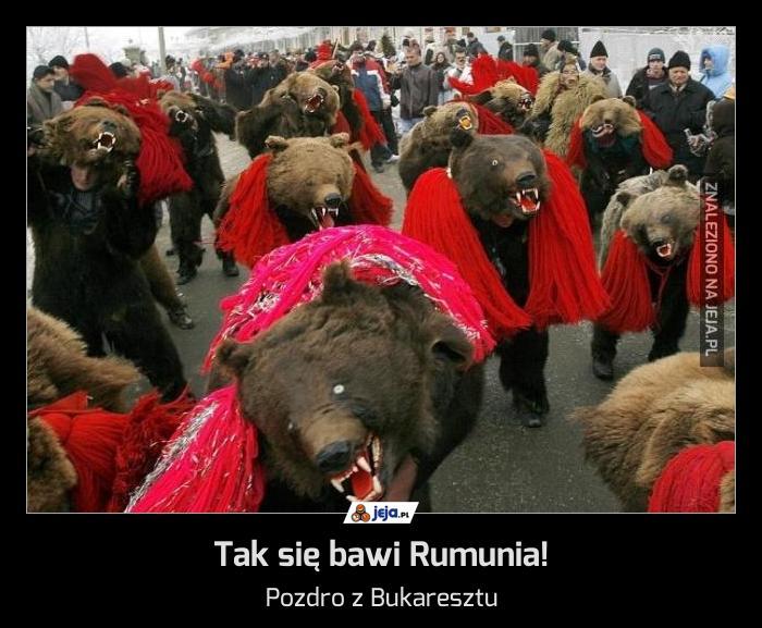 Tak się bawi Rumunia!