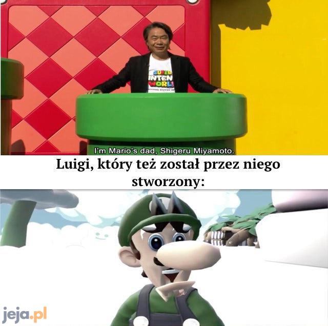 Zawsze odrzucany zielony Mario