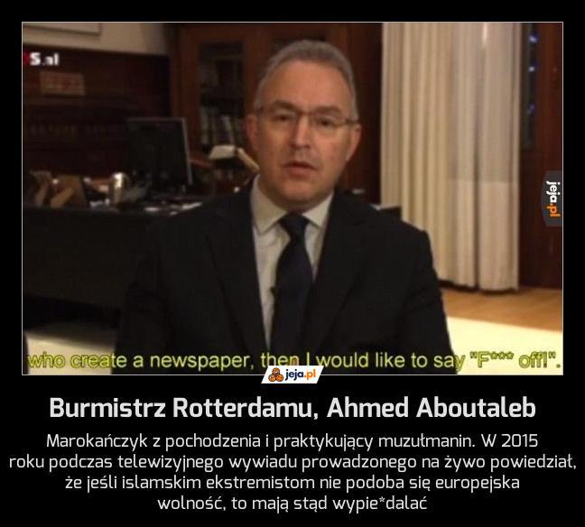 Burmistrz Rotterdamu, Ahmed Aboutaleb