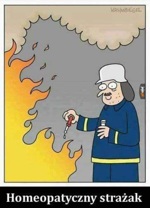 Legenda głosi, że ugasił w ten sposób pożar