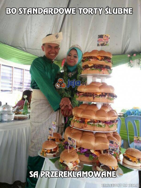 Bo standardowe torty ślubne są przereklamowane