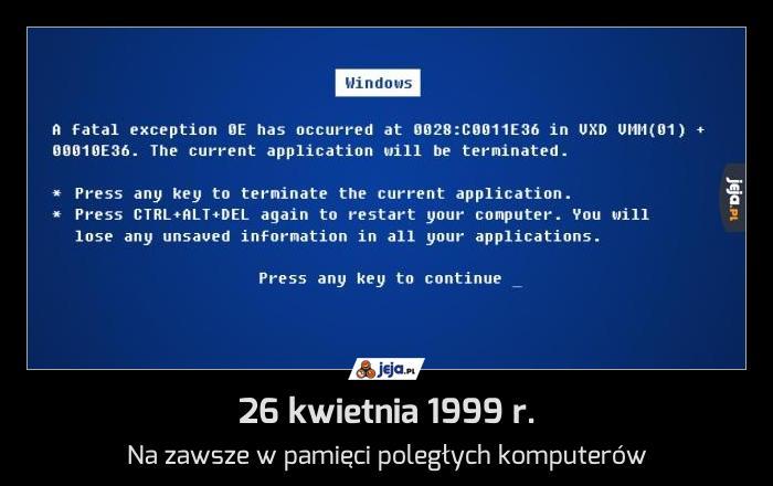26 kwietnia 1999 r.