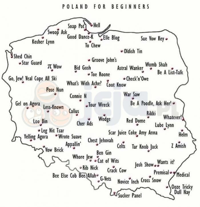 Naucz Anglika polskiej geografii