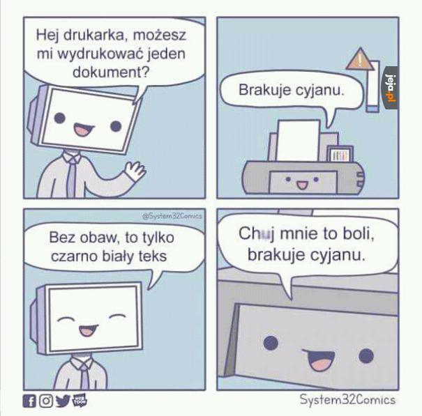Przeklęta drukarko!