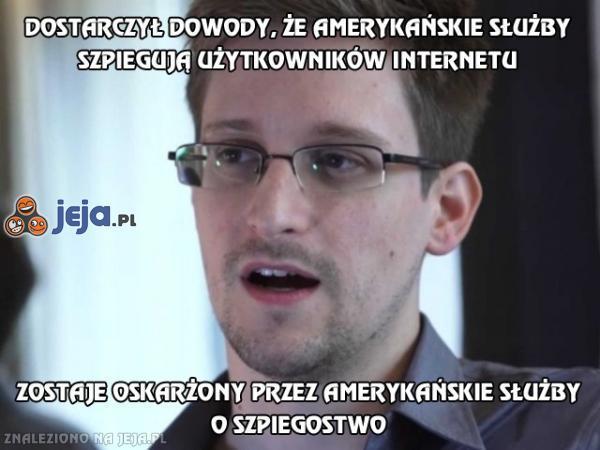 Dostarczył dowody, że amerykańskie służby szpiegują