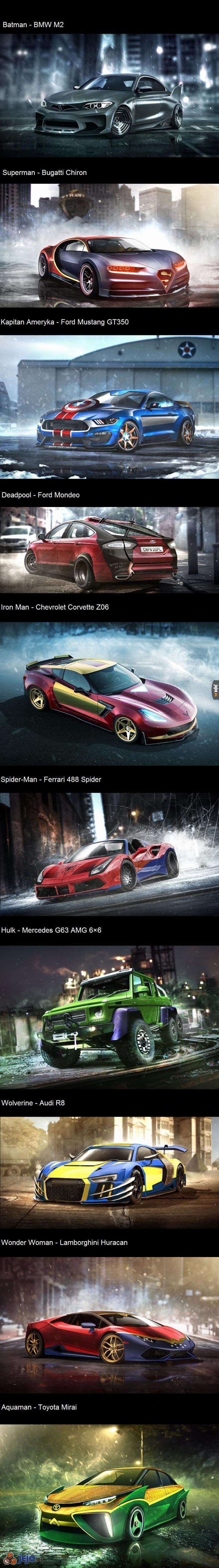 Samochody superbohaterów