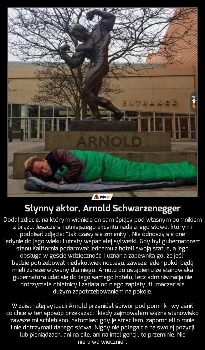 Słynny aktor, Arnold Schwarzenegger