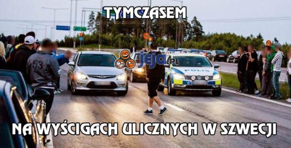 Tymczasem na wyścigach ulicznych w Szwecji