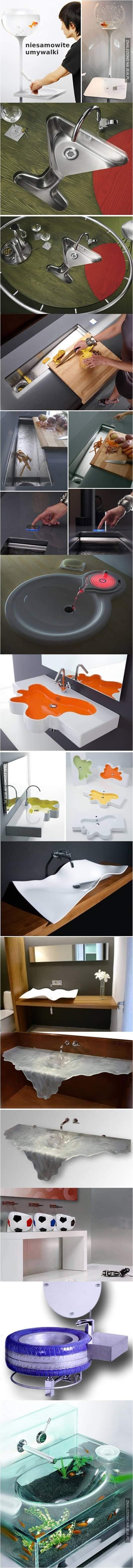 Niesamowite umywalki