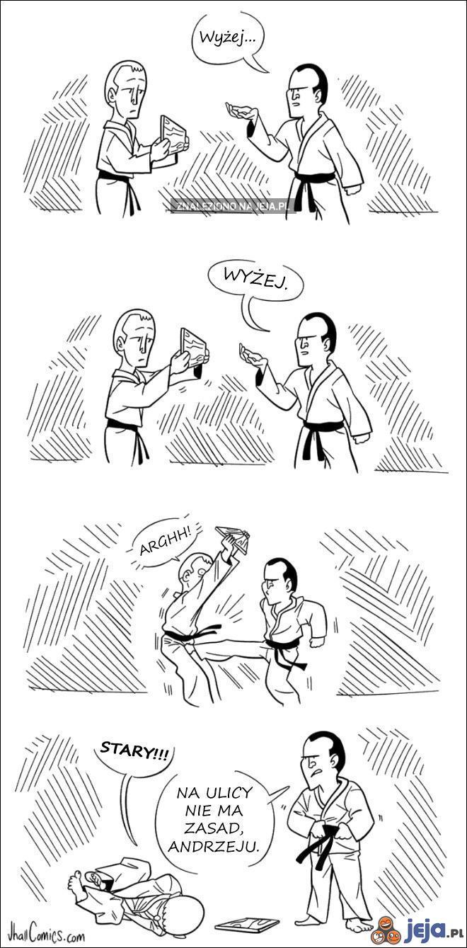To chyba nie jest kurs karate...
