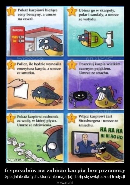 6 sposobów na zabicie karpia bez przemocy