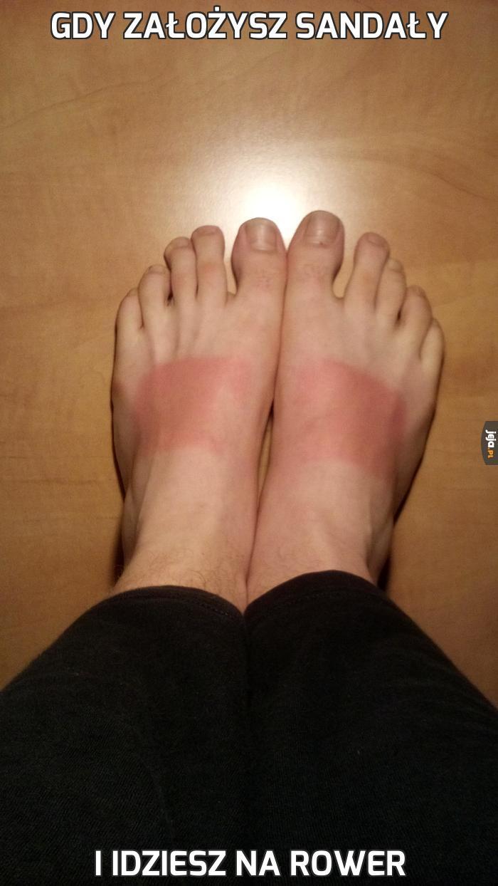 Gdy założysz sandały