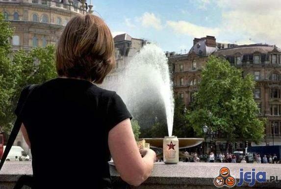 Piwo czy fontanna