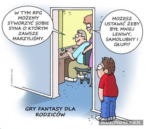 Gry fantasy dla rodziców